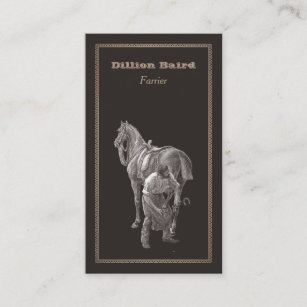 Farrier business cards zazzle farrier shoeing horse business card colourmoves