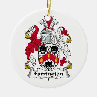 Farrington Family Crest Double-Sided Ceramic Round Christmas Ornament