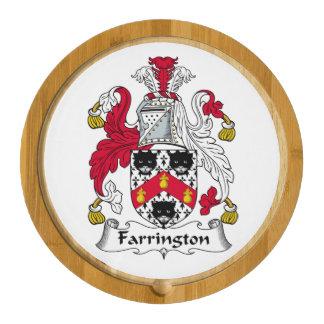Farrington Family Crest Round Cheeseboard