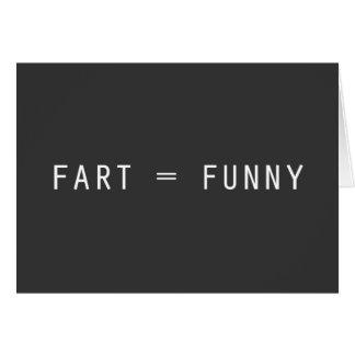 Fart = divertido tarjeta