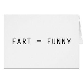 Fart = divertido tarjeta de felicitación