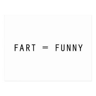 Fart = divertido tarjetas postales
