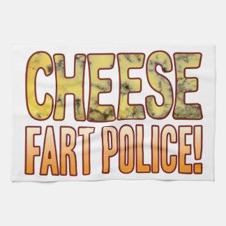 Fart el queso verde de la policía toalla de cocina