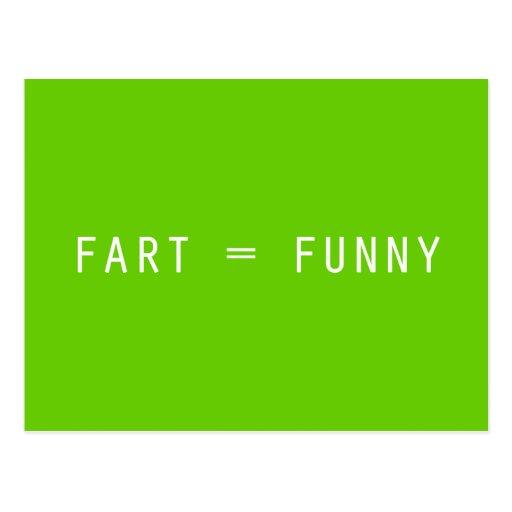 Fart = Funny Postcard