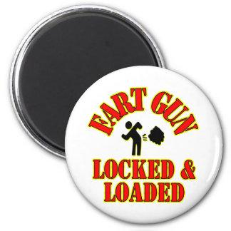 Fart Gun Locked Loaded Fridge Magnets