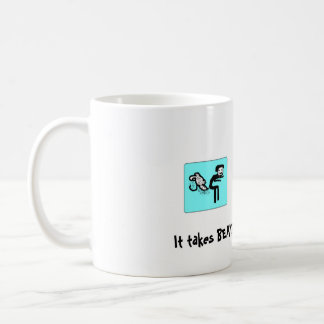 fart, It takes BEANS to get me sta... - Customized Coffee Mug