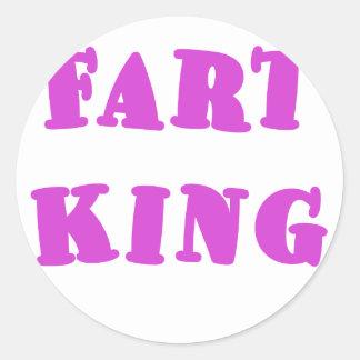Fart King Round Stickers