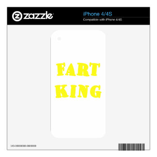 Fart King Decal For The iPhone 4