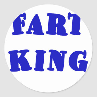 Fart King Stickers