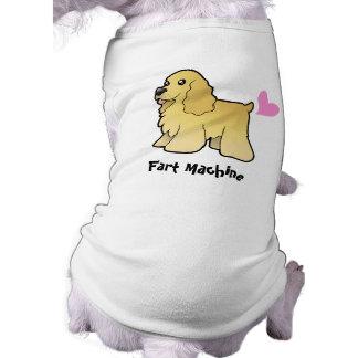 Fart la máquina (americano cocker spaniel) camisetas de perro