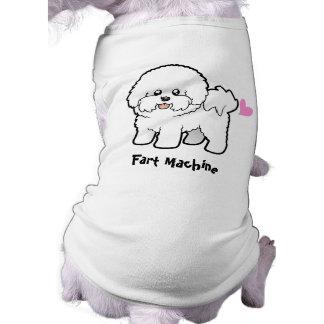Fart la máquina (Bichon Frise) Playera Sin Mangas Para Perro
