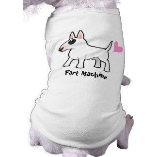 Fart la máquina (bull terrier) playera sin mangas para perro