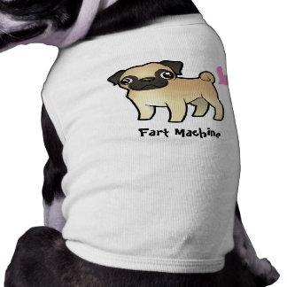 Fart la máquina (el barro amasado) playera sin mangas para perro