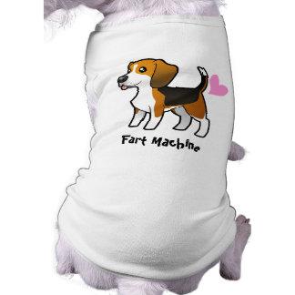 Fart la máquina (el beagle) playera sin mangas para perro