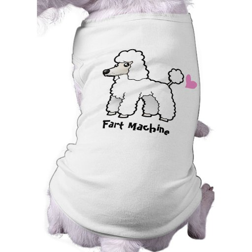 Fart la máquina (el caniche del corte del perrito) playera sin mangas para perro