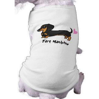 Fart la máquina (el dachshund liso de la capa) playera sin mangas para perro