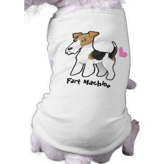 Fart la máquina (el fox terrier del alambre) camisetas mascota