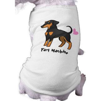Fart la máquina (el Pinscher del Doberman) Playera Sin Mangas Para Perro