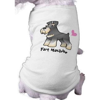 Fart la máquina (el Schnauzer) Camiseta De Perro