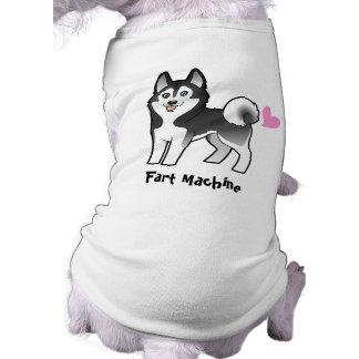 Fart la máquina (husky siberiano/el Malamute de Playera Sin Mangas Para Perro