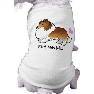 Fart la máquina (perro pastor de Shetland/el colli Playera Sin Mangas Para Perro