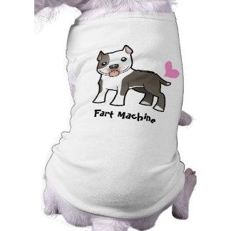 Fart la máquina (Pitbull/Am Staffordshire Terrier) Playera Sin Mangas Para Perro