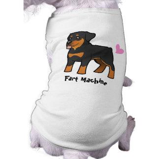 Fart la máquina (Rottweiler) Playera Sin Mangas Para Perro