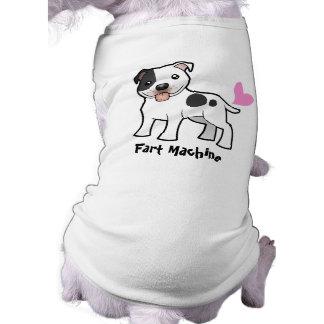 Fart la máquina (Staffordshire bull terrier) Playera Sin Mangas Para Perro