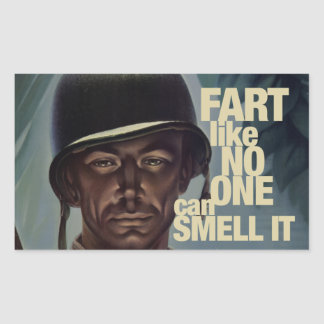 Fart like no one can smell it rectangular sticker