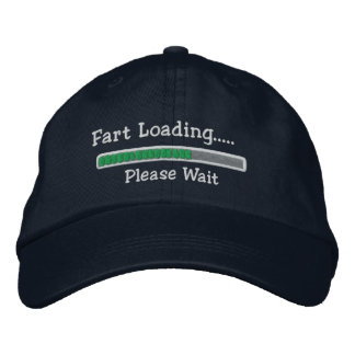 Fart Loading Please Wait Embroidered Hats