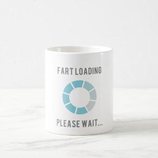 Fart Loading Please Wait - funny cup Classic White Coffee Mug