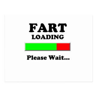 Fart Loading Please Wait Postcard