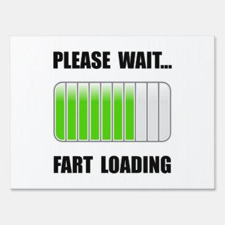 Fart Loading Sign