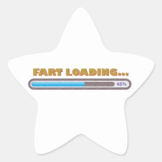 FART LOADING STAR STICKER