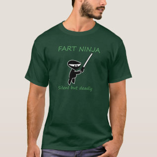 Fart Ninja Funny Tshirt at Zazzle
