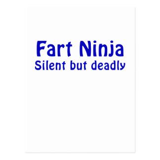 Fart Ninja silencioso pero muerto Tarjetas Postales