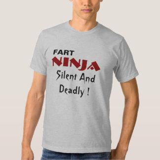 ¡FART, NINJA, silenciosos y muerto! Polera
