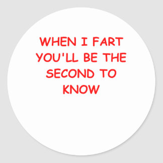 FART.png Classic Round Sticker