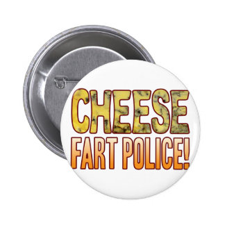 Fart Police Blue Cheese Pinback Button