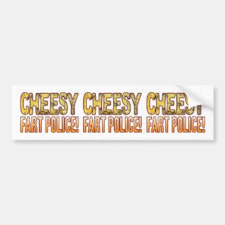 Fart Police Blue Cheesy Bumper Sticker