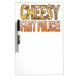 Fart Police Blue Cheesy Dry-Erase Board