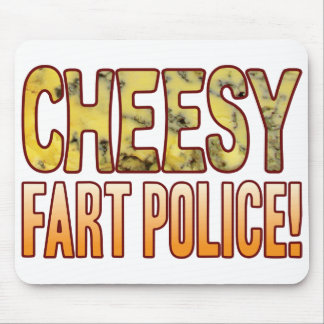 Fart Police Blue Cheesy Mouse Pad
