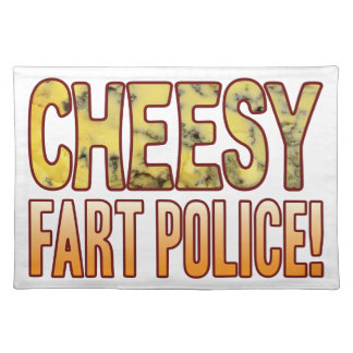 Fart Police Blue Cheesy Placemat
