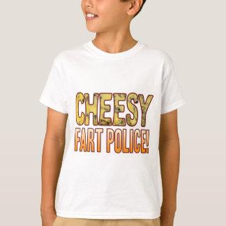 Fart Police Blue Cheesy T-Shirt