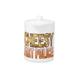 Fart Police Blue Cheesy Teapot