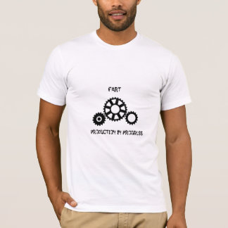 Fart... production in progress gears icon, shirt. T-Shirt
