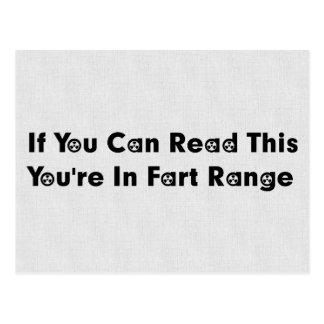 Fart Range Postcard