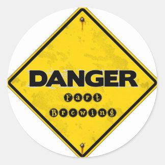 fartbrewing.jpg classic round sticker
