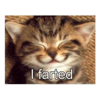 Farted postal del gatito