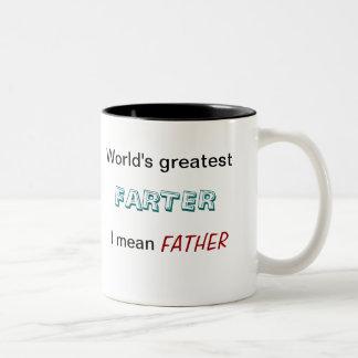 Farter más grande del mundo - significo al padre - taza dos tonos